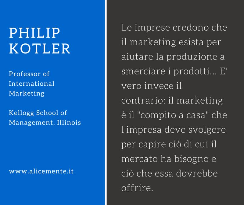"""Il """"marketing""""…è il compito a casa."""