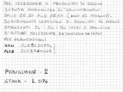 Verticale di Prosciutti di Parma